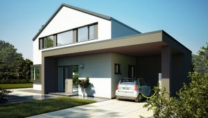 Bild: CONCEPT-M 172 Bauweise: Fertighaus, industrielle Vorfertigung Bauart: Holzhaus, Holztafelbau
