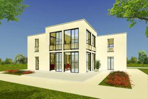 Bild: Haus ATR07-03 Bauweise: Fertighaus, industrielle Vorfertigung Bauart: Holzhaus, Fachwerk