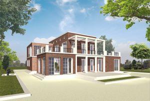 Bild: Haus Contemplation Bauweise: Fertighaus, industrielle Vorfertigung Bauart: Holzhaus, Holzrahmenbau