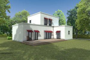 Bild: HAUS H. Bauweise: Fertighaus, industrielle Vorfertigung Bauart: Holzhaus, Fachwerk