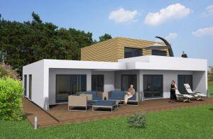 Bild: Cubus Bauweise: Fertighaus, industrielle Vorfertigung Bauart: Holzhaus, Holztafelbau