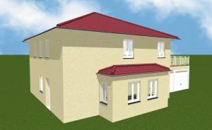 Bild: Stadtvilla mit Garage Bauweise: Bau vor Ort, traditioneller Hausbau Bauart: Massivhaus, Porenbetonsteine