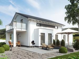 Bild: SOLUTION 183 V4 Bauweise: Fertighaus, industrielle Vorfertigung Bauart: Holzhaus, Holztafelbau