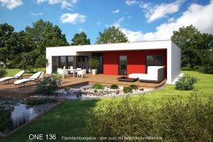 Bild: ONE 136 Bauweise: Fertighaus, industrielle Vorfertigung Bauart: Holzhaus, Fachwerk