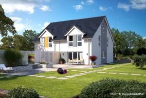 Bild: DUO 117 Bauweise: Fertighaus, industrielle Vorfertigung Bauart: Holzhaus, Fachwerk
