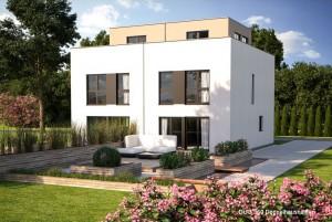 Bild: DUO 160 Bauweise: Fertighaus, industrielle Vorfertigung Bauart: Holzhaus, Fachwerk