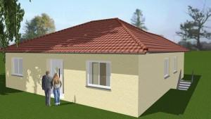 Bild: Bungalow mt Untergeschoss und Tiefgarage Bauweise: Bau vor Ort, traditioneller Hausbau Bauart: Massivhaus, Porenbetonsteine