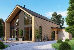 Bild: NORGES HUS 170 - Bausatz ab 98.700.-- € ... Bauweise: Fertighaus, industrielle Vorfertigung Bauart: Holzhaus, Holzständerwerk