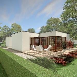 Bild: Haus PAT07-02 Bauweise: Fertighaus, industrielle Vorfertigung Bauart: Massivhaus, Ziegelsteine