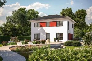 Bild: EASY 137 mit alternativ 4 Dachformen Bauweise: Fertighaus, industrielle Vorfertigung Bauart: Holzhaus, Fachwerk