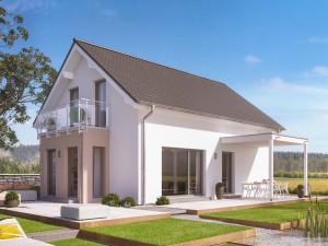 Bild: EVOLUTION 122 V2 Bauweise: Fertighaus, industrielle Vorfertigung Bauart: Holzhaus, Holztafelbau
