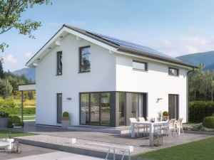 Bild: EDITION 125 V4 Bauweise: Fertighaus, industrielle Vorfertigung Bauart: Holzhaus, Holztafelbau