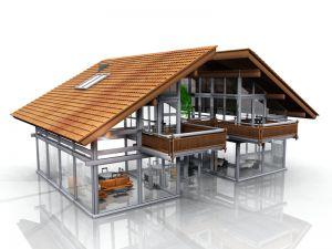 Bild: Licht und Raum  Bauart: Holzhaus, Blockhaus