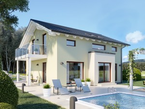 Bild: EDITION 134 V4 Bauweise: Fertighaus, industrielle Vorfertigung Bauart: Holzhaus, Holztafelbau