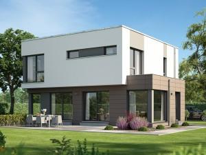 Bild: EVOLUTION 143 V7 Bauweise: Fertighaus, industrielle Vorfertigung Bauart: Holzhaus, Holztafelbau