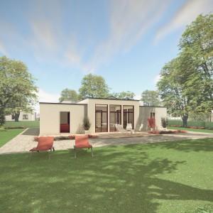 Bild: Haus ATR07-07 Bauweise: Fertighaus, industrielle Vorfertigung Bauart: Massivhaus, Ziegelsteine