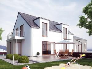 Bild: SOLUTION 183 V2 Bauweise: Fertighaus, industrielle Vorfertigung Bauart: Holzhaus, Holztafelbau