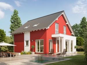 Bild: SUNSHINE 136 V3 Bauweise: Fertighaus, industrielle Vorfertigung Bauart: Holzhaus, Holztafelbau