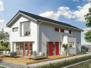 Bild: BALANCE 145 V2 Bauweise: Fertighaus, industrielle Vorfertigung Bauart: Holzhaus, Holztafelbau