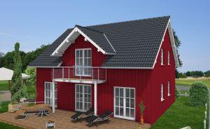Bild: EFH-263-SD - Friedberg Bauweise: Fertighaus, industrielle Vorfertigung Bauart: Holzhaus, Holztafelbau