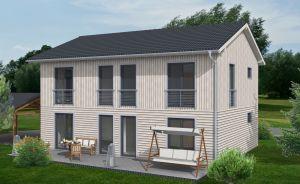 Bild: EFH-332-SD - Landshut Bauweise: Fertighaus, industrielle Vorfertigung Bauart: Holzhaus, Holztafelbau