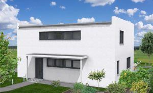 Bild: EFH-455-PD - Lofthaus Bauweise: Fertighaus, industrielle Vorfertigung Bauart: Holzhaus, Holztafelbau