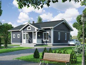 Bild: NORGES HUS 107 - Baussatz ab 55.500.-- €... Bauweise: Fertighaus, industrielle Vorfertigung Bauart: Holzhaus, Holzständerwerk
