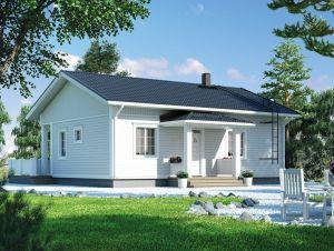 Bild: NORGES HUS 87 - Bausatz ab 45.500.-- € i... Bauweise: Fertighaus, industrielle Vorfertigung Bauart: Holzhaus, Holzständerwerk