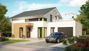 Bild: EVOLUTION 143 V6 Bauweise: Fertighaus, industrielle Vorfertigung Bauart: Holzhaus, Holztafelbau