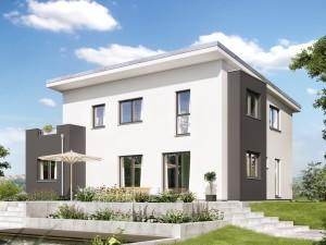 Bild: EVOLUTION 165 V5 Bauweise: Fertighaus, industrielle Vorfertigung Bauart: Holzhaus, Holztafelbau
