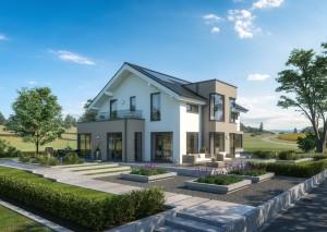 Bild: Selection-E-159 E1 Bauweise: Fertighaus, industrielle Vorfertigung Bauart: Holzhaus, Holztafelbau