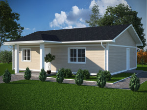 Bild: NORGES HUS 86 - Bausatz ab 47.200.-- € i... Bauweise: Fertighaus, industrielle Vorfertigung Bauart: Holzhaus, Holzständerwerk