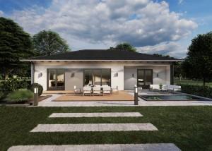 Bild: Bungalow Birken-Honigsessen 20-033 Bauweise: Bau vor Ort, traditioneller Hausbau Bauart: Massivhaus, Porenbetonsteine