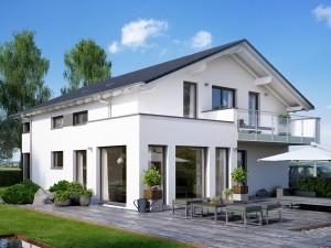 Bild: SOLUTION 204 V5 L Bauweise: Fertighaus, industrielle Vorfertigung Bauart: Holzhaus, Holztafelbau