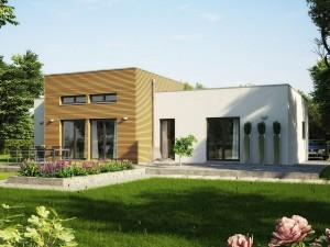 Bild: AMBIENCE 111 V4 Bauweise: Fertighaus, industrielle Vorfertigung Bauart: Holzhaus, Holztafelbau