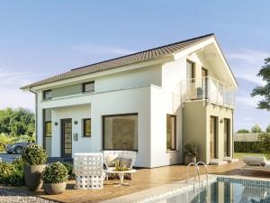 Bild: EDITION 123 V4 Bauweise: Fertighaus, industrielle Vorfertigung Bauart: Holzhaus, Holztafelbau