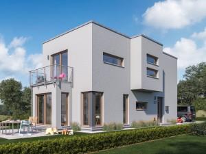 Bild: SUNSHINE 107 FD Bauweise: Fertighaus, industrielle Vorfertigung Bauart: Holzhaus, Holztafelbau