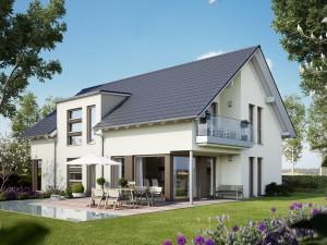 Bild: SOLUTION 204 V2 Bauweise: Fertighaus, industrielle Vorfertigung Bauart: Holzhaus, Holztafelbau
