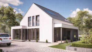 Bild: FANTASTIC 163 V2 Bauweise: Fertighaus, industrielle Vorfertigung Bauart: Holzhaus, Holztafelbau