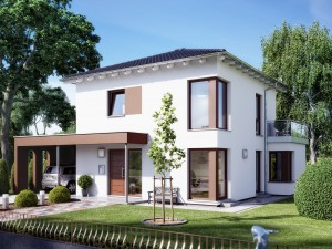 Bild: SUNSHINE 113 V7 Bauweise: Fertighaus, industrielle Vorfertigung Bauart: Holzhaus, Holztafelbau