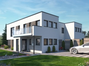 Bild: CELEBRATION 139 V6 L Bauweise: Fertighaus, industrielle Vorfertigung Bauart: Holzhaus, Holztafelbau