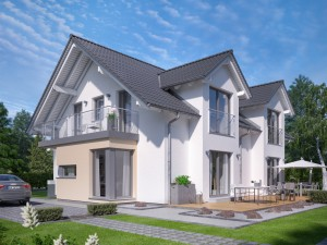 Bild: CELEBRATION 192 V2 Bauweise: Fertighaus, industrielle Vorfertigung Bauart: Holzhaus, Holztafelbau