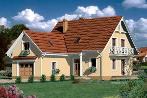 Bild: Fertighaus aus Polen: Haus Farnen 2 Bauweise: Fertighaus, industrielle Vorfertigung Bauart: Holzhaus, Holztafelbau