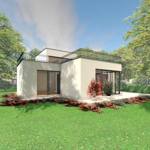 Bild: Haus PAT07-07 Bauweise: Fertighaus, industrielle Vorfertigung Bauart: Massivhaus, Ziegelsteine