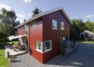 Bild: Hardangerfjord Bauweise: Fertighaus, industrielle Vorfertigung Bauart: Holzhaus, Fachwerk