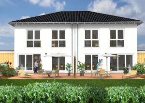 Bild: Doppelhaushälfte Reiferscheid 100-024 Bauweise: Bau vor Ort, traditioneller Hausbau Bauart: Massivhaus, Ziegelsteine