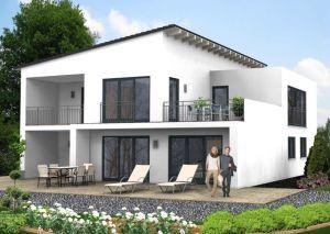 Bild: Pultdach Haus Bad Marienberg 30-029 Bauweise: Fertighaus, industrielle Vorfertigung Bauart: Massivhaus, Ziegelsteine