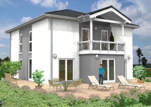 Bild: Stadtvilla Altendiez 40-012 Bauweise: Fertighaus, industrielle Vorfertigung Bauart: Massivhaus, Ziegelsteine