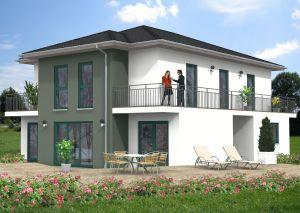 Bild: Stadtvilla Eichen 50-027 Bauweise: Fertighaus, industrielle Vorfertigung Bauart: Massivhaus, Ziegelsteine