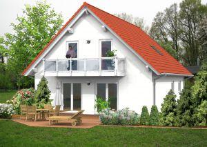 Bild: Satteldach Haus Molzhain 70-007 Bauweise: Fertighaus, industrielle Vorfertigung Bauart: Massivhaus, Ziegelsteine